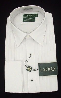 Ralph Lauren Tuxedo Formal Shirt Lay Down Collar  NOW $19.99 Free Black Bow Tie