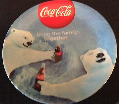 COCA-COLA POLAR BEAR LIMITED EDITION  PLATE by GIBSON 2014