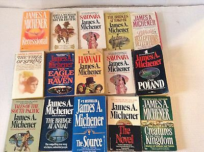 James Michener Collection Lot of 15 Books Paperback PB Misc Titles Various