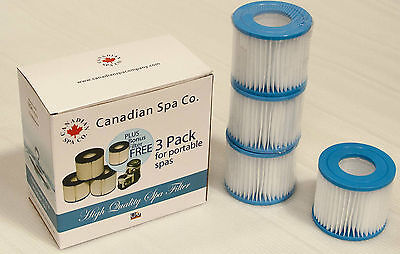 4 x Swift Current Hot Tub Filters -  Canadian Spa Filter Cartridges