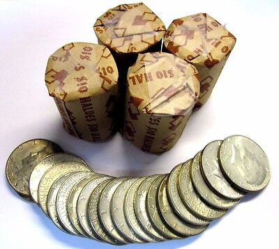 Lot of 100 coins (5 Rolls) 40% Silver Kennedy Half Dollars $50 Face-value