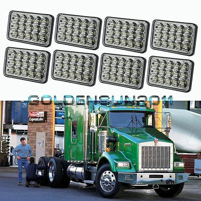 8pcs LED Headlights For Kenworth T800 T400 T600 W900B W900L Classic 120/132 HK
