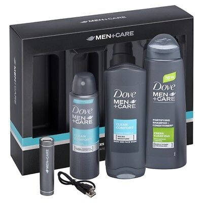 Dove Men+Care Gift with Mobile Charger  FOR HIM BEST XMAS GIFT FAST SERVICE
