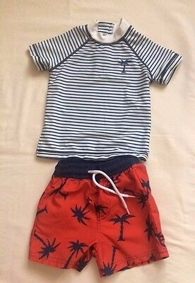 Next Baby Boys Swimming Costume / Suit Top & Shorts 9-12 months