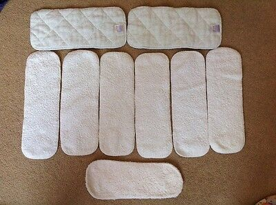 9 Cloth Washable Reusable Nappy Booster  Bamboo, Bambino Mio, Little Lambs USED