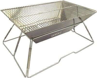 MILICAMP Foldable Stainless BBQ Compact Camping Barbecue With Carry Bag