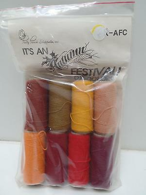 Pretty Punch Embroidery Kit K-AFC Autumn Festival Leaves '87 Yarn Pattern New