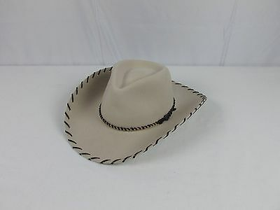 e36fe50dac4 RENEGADE WOOL COWBOY Hat   Wpl 5923 Brown Size 7.5 60 Made In Usa ...
