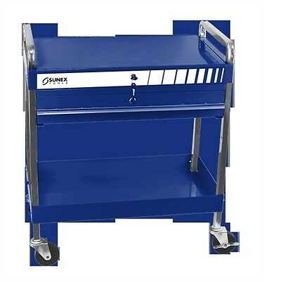 Sunex Tools Service Cart with Locking Top and Drawer, Blue 8013ABL