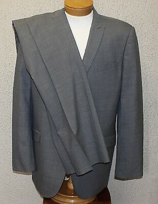 Bachrach Suit MODERN FIT Men's 44 Long 44L Gray 100% Wool 2 Button 38x34 Pants