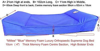 """Millies"" BLUE XLarge Superior Memory Foam Dog Bed / Mattress, Orthopaedic"