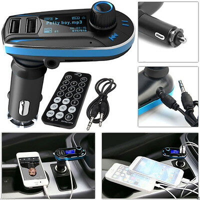 Mp3 Player Fm Transmitter Hands-Free Car Kit Usb Charger Port For Iphone