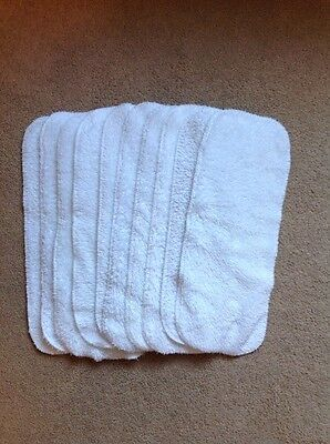 10 Little Lambs Fleecy Liners Size 2 Washable Reusable Cloth Nappies USED