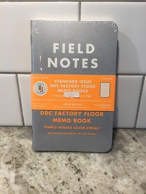 """Field Notes DDC-054 Factory Floor Edition """"Weirdo"""" Sealed Notebook 3-Pack"""