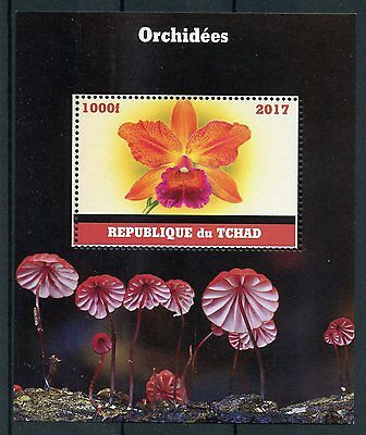 Chad 2017 MNH Orchids 1v M/S Flowers Stamps