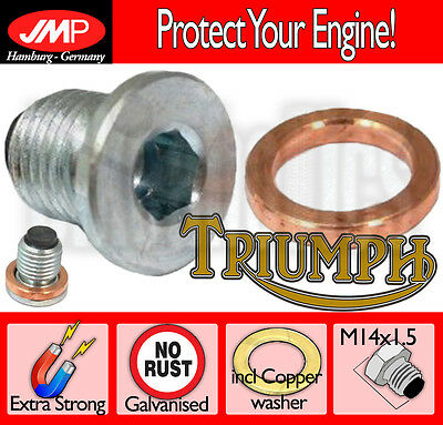 Magnetic Oil Drain Plug + Copper Washer- Triumph Trident 900 - 1996
