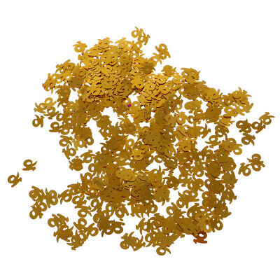 Table Confetti Sprinkles Age Birthday Party 16 18 30 40 50 60 Number Gold