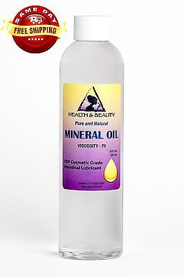 MINERAL OIL 70 VISCOSITY NF USP GRADE LUBRICANT by H&B Oils Center PURE 8 OZ