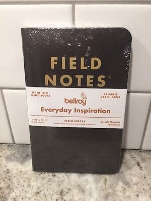 Field Notes Bellroy Everyday Inspiration Limited EditIon Notebook Sealed 2-Pack