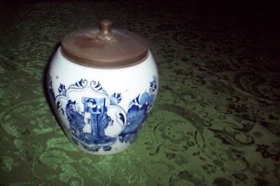 Delft Tobacco Humidor with Lid van Rossems Toeback Anno 1750 GREAT CONDITION #13