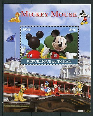 Chad 2016 CTO Mickey Mouse 1v M/S Disney Cartoons Stamps