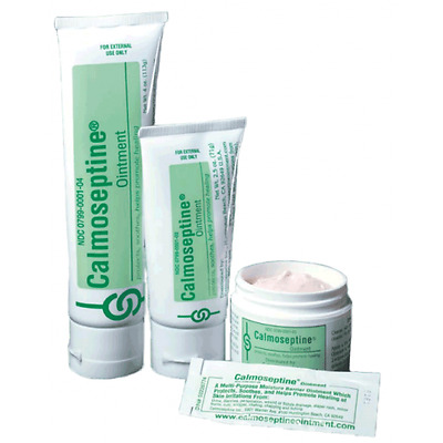 Calmoseptine Ointment- 2 Sizes, 4 & 2.5 oz- Jar and Tube