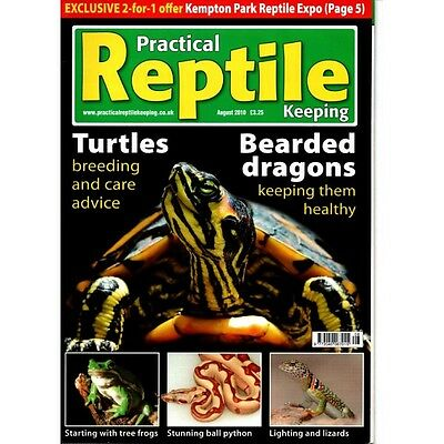 Practical Reptile Magazine August 2010  MBox 2359 Turtles Breeding and care advi