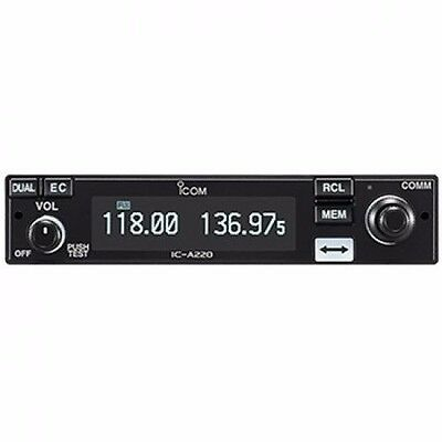 New ICOM IC-A220T VHF Airband Transceiver TSO'd Panel Mount