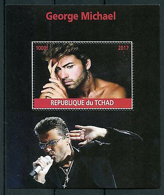 Chad 2017 MNH George Michael 1v M/S Pop Stars Music Celebrities Stamps