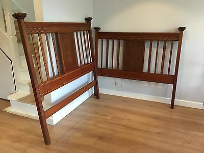 Edwardian double wooden bed frame