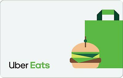 Uber EATS Gift Card - $25 $50 or $100 - Fast email delivery