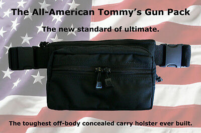 (SALE) American Made! TOMMY'S GUN CONCEALMENT FANNY PACK - One Size Fits ALL 1Y
