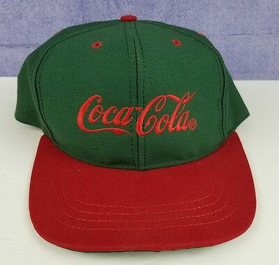 Coca Cola snapback hat red and green coca-cola coke made in the USA