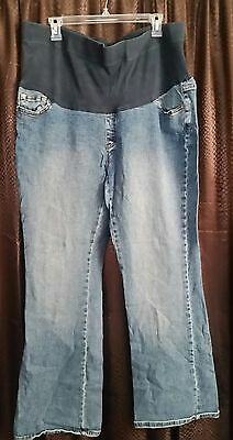 Motherhood Maternity sz XL distressed blue Jeans with Belly Panel!