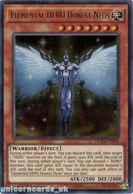 DUSA-EN028 Elemental HERO Honest Neos Ultra Rare 1st Edition Mint YuGiOh Card