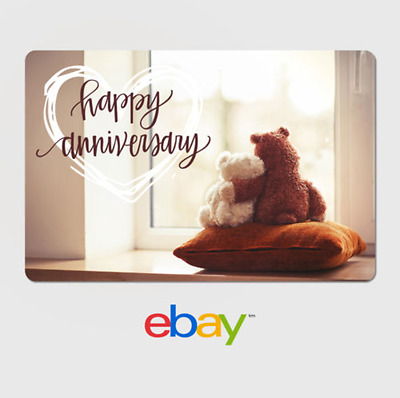 eBay Digital Gift Card - Anniversary Teddy Bears-  Email delivery