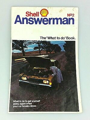 Vintage - Shell Answerman Booklet No. 2 - The What To Do Book - 1970's