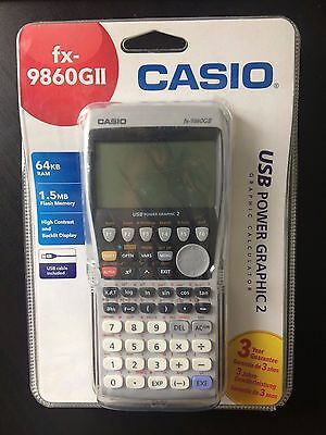 Casio fx-9860GII Advanced Graphic Calculator sealed package + warranty