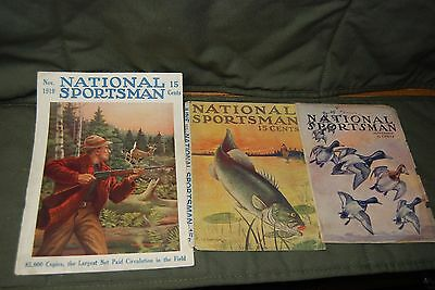 National Sportsman and Hunting & Fishing Magazine Cover Art 1911-1929 49 Pieces