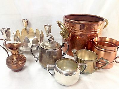 Seven Vintage Copper/silver Lot - Save Tons On Shipping