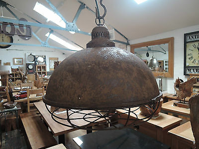Large Industrial Rustic Ceiling Light Shades With Electrical Fittings