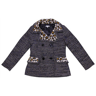 Little Marc Jacobs giacca in lana bouclé con stampa leopardo