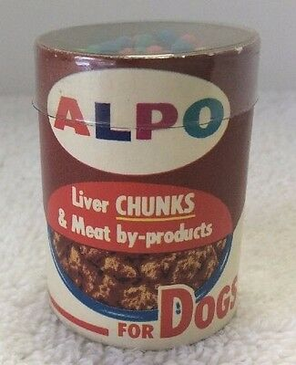 Rare Vintage Alpo Dog Advertising Can Meat By Products & Matches NOS