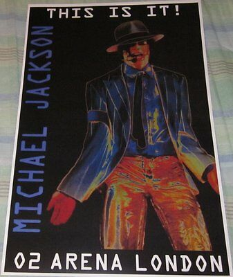 Michael Jackson 02 Arena This Is It Replica Concert Poster W/protective Sleeve
