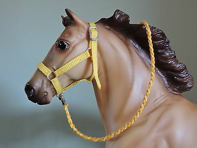 Nylon Style Halter Traditional sized Breyer Peter Stone W/ Lead Rope YELLOW