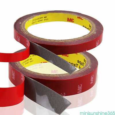 Hot 1Roll 3M Car Auto Acrylic Foam Double Sided Adhesive Attachment Tape