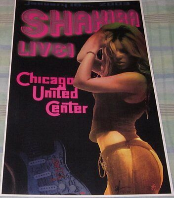 Shakira 2003 Chicago Replica Concert Poster W/protective Sleeve