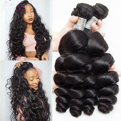 8A 400g/4bundles Unprocessed Peruvian Loose Wave Human Hair 20inches