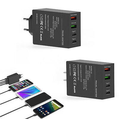 4 Ports USB Charging Station Wall Charger 50W 5V/3A Fast Charge Adapter New