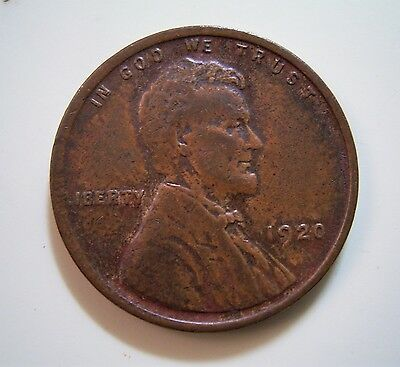 USA 1920 1 cent coin...Circulated in very good condition, good detail